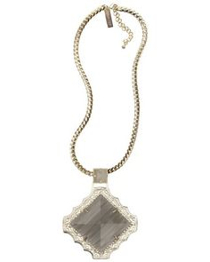 Savannah Necklace in Slate - Kendra Scott Jewelry. Fall 2013 #ModernTreasures Collection, available July 24th.