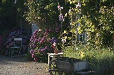 Jardin - La Ferme de Kerscuntec, Chambres d'hôtes de charme entre Quimper et Bénodet.