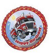 Fast Fire Engine Party Birthday Foil Balloon 18'. #Fast #Fire #Engine #Party #Birthday #Foil #Balloon