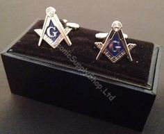 I Luv LTD Cufflinks Plated Silver Finish Featuring Masonic Square /& Compasses