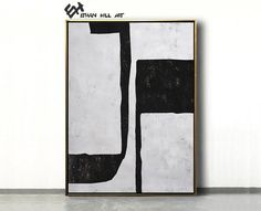 Large Wall Art Canvas Art Abstract Modern Art Canvas Painting image 1 Modern Canvas Art, Large Canvas Wall Art, Canvas Painting Images, Abstract Animal Art, Black And White Abstract, Black White, Zebra Art, Minimalist Painting, Mid Century Modern Art