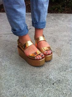 Gold...cute. but looks like Brandy s shoes from that show Brady and 5c10f03de2