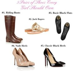 5 Pairs of Shoes Every Girl Should Own. Tory Burch boots / Sergio Rossi high heels / Christian Louboutin heels / Tory Burch shoes / Jack Rogers flat shoes Cheap Red Bottom Shoes, Sergio Rossi Boots, Butterfly Shoes, Cheap Christian Louboutin, Tory Burch Boots, Manolo Blahnik Heels, Fashion Heels, Runway Fashion, Fashion Outfits