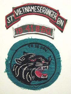 37th Vietnamese Ranger BN patch ~ Vietnam War