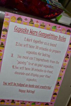 Seeking Sandy: Cupcake Wars Birthday Party