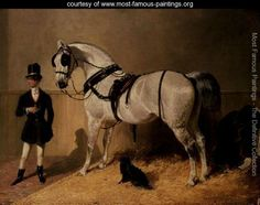Horse Paintings By Famous Artists | ... Carriage Horse - Reproduction - www.most-famous-paintings.org - Large