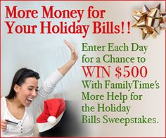 Win Holiday Cash from FamilyTime.com #FamilyTime