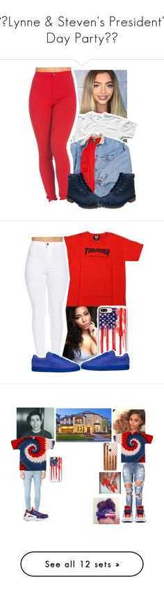 """""""🇺🇸Lynne & Steven's President's Day Party🇺🇸"""" by tropic-baby ❤ liked on Polyvore featuring interior, interiors, interior design, home, home decor, interior decorating, Lee, Timberland, Casetify and NIKE"""