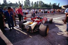 F1 1970, XLI Gran Premio d'Italia at Monza. Rear view of Jacky Ickx's Ferrari 312B and his curious air intakes