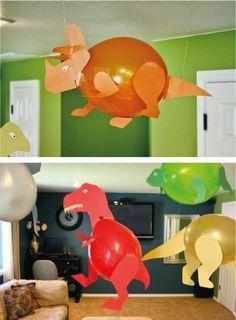 Great ideas for Dinosaur parties - Geschenke Dinasour Birthday, Dinosaur Birthday Party, 3rd Birthday Parties, Birthday Party Decorations, Dinosaur Crafts, Ideas Para Fiestas, Fiestas Party, Crafts For Kids, Ideas Geniales