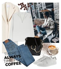 """""""Coffee Time"""" by laurabosch on Polyvore featuring MANGO, Chloé, Levi's, Yves Saint Laurent and CoffeeDate"""