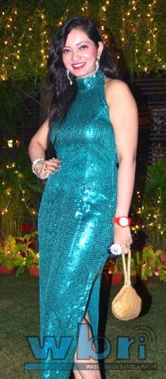 Indian Kolkata Bengali Model Emcee and Movie Actress Parijat Chakraborty @ Indian Kolkata Bengali Movie Industry (Tollywood) Bijoya Sammelani - full report at j.mp/tollywood-bijoya-dashami