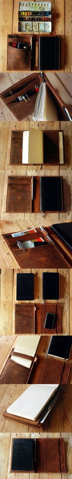 Large Moleskine and Ipad Mini leather cover by…