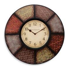Patchwork Wall Clock - BedBathandBeyond.com