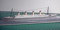 RMS Titanic model kartonowy 1:1200 http://mojeminiatury.waw.pl/rms-titanic-11200/