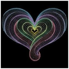 Rippled Neon Hearts 08(Lg) machine embroidery designs