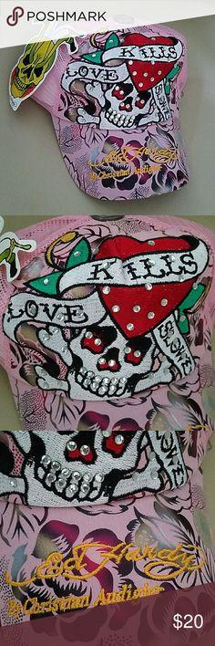 NEW Ed Hardy by Christian Andigier Love Kills Slowly hats Ed Hardy Accessories Hats