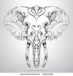 Elephant Head Drawing | Elephant Stock Photos, Illustrations, and Vector Art