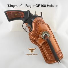 Longhorn Leather AZ - Ruger holster featuring the design. 1911 Holster, Custom Leather Holsters, Gun Holster, Cowboy Hat Styles, Blackhawk Holsters, Western Holsters, Rifle Sling, Leather Workshop, Leather Tooling
