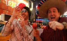 """Marc Raco (right) in a fantasy sequence from the short comedy film """"The Next Gotta Have It"""""""