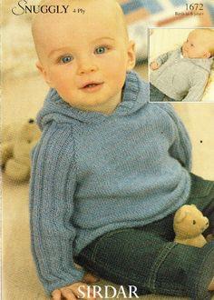Sirdar 72 jumper and cardigan baby modern knitting pattern