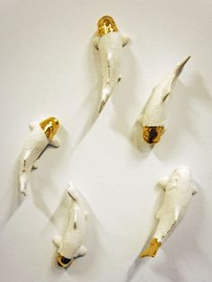 Wall Fish, 24 carat gold, Noes Butter