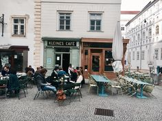 """Kleines Caffe is one of the kind. Its a """"must"""" when you are visiting Vienna. Vienna, Austria, Street View, Movies, Films, Film, Movie, Movie Quotes"""