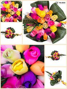 ..wooden flowers
