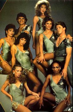 The legendary Solid Gold dancers. That's Darcel bottom right, Scary Spice of the mid-80s. #80s #fashion #TV
