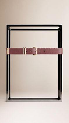 Claret Smooth Leather Belt - Image 2