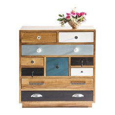 COMMODE BABALOU CLOSED 10 DRAWER KARE DESIGN #commode #color #design #éclectique #déco #deco #décoration  #meubles #mobilier #mobilierinterieur #homeaddict