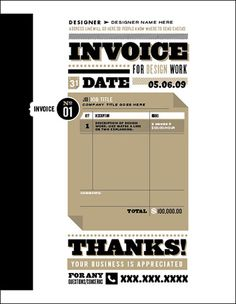 Lovely Invoice Design But For The Record Erb CreativeS Kick