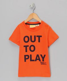 Take a look at this Orange 'Out To Play' Organic Tee - Infant, Toddler & Kids by Boys&Girls on #zulily today!