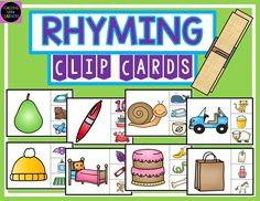 Free Download! Rhyming Clip Cards