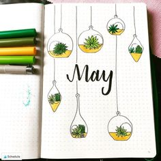 18 Inspiring May Hello Title Pages For Your Bullet Journal 18 Inspiring May Hello Title Pages For Your Bullet Journal Bullet Journal Cover Ideas, Bullet Journal Titles, Bullet Journal Month, Bullet Journal Banner, Bullet Journal School, Bullet Journal Aesthetic, Bullet Journal Notebook, Journal Covers, Bullet Journal Inspiration Creative