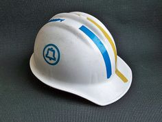 Vintage Bell Telephone Lineman Hard Hat Dial in by leapinglemming, $22.95