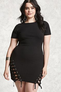 Plus Size Ribbed Knit Dress | Forever 21 PLUS - 2000101816