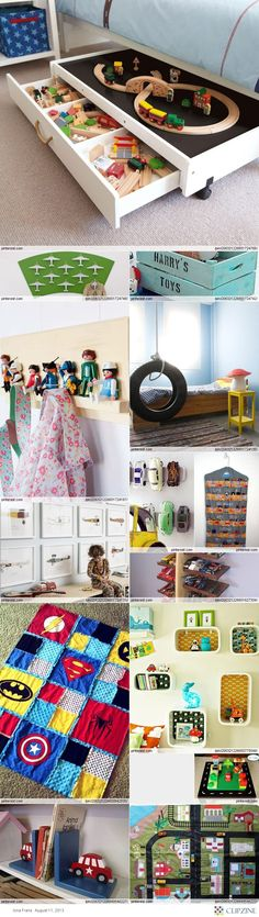 little boys room -  Love the little train table w/drawers that rolls under the bed. My boys would love it.