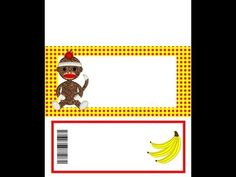 How To DIY Customize Printable Candy Wrappers Sock Monkey Party Supplies