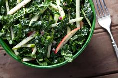 Kale-Apple Coleslaw with Poppy Seed Dressing