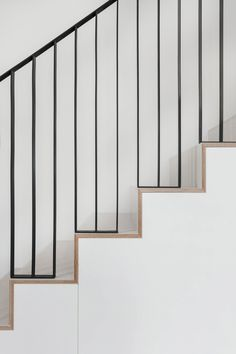 Clover Hill Residence by Ravi Raj occupies historic foundry in New York Modern Stairs Clover foundry Hill Historic occupies Raj Ravi Residence York Stair Railing Design, Staircase Railings, Stairways, Metal Stair Railing, Railing Ideas, Bannister, Architecture Details, Interior Architecture, High Design