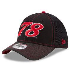 brand new a821c df673 Martin Truex Jr New Era Shadow Burst 39THIRTY Flex Hat - Black