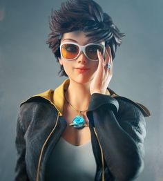 Tracer Overwatch by rohancreates on DeviantArt Overwatch Memes, Overwatch Fan Art, Video Games Girls, Games For Girls, Overwatch Wallpapers, Heroes Of The Storm, 3d Girl, Digital Art Girl, Hip Hop Rap