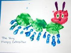 caterpillar handprint craft
