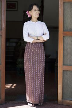 Credit: Rex Features Aung San Suu Kyi, 67Admired, of course, for many things before her dress sense. And yet her way w...