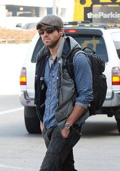 Ryan Reynolds at LAX airport