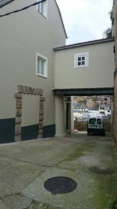 Ribadeo houses and streets