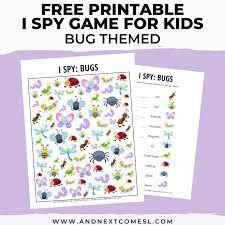 Bug I Spy Game {Free Printable for Kids} | And Next Comes L - Hyperlexia Resources Spy Games For Kids, I Spy Games, Free Games, Spy Bug, Escape The Classroom, Bugs, Free Printables, Easter, Beetles