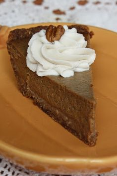 Dairy free- gluten free - refined sugar free pumpkin pie