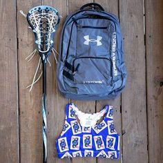 #Lax Practice Essentials: Girls Queen of Lax Sports Bra + Under Armour 'Hustle' Team Backpack - Add your team logo or monogram! - Sportabella.com